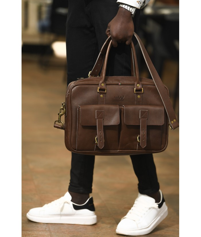 APOLLO LEATHER LAPTOP SHOULDER BAG