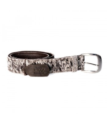 MO LEATHER BELT - HAIR ON