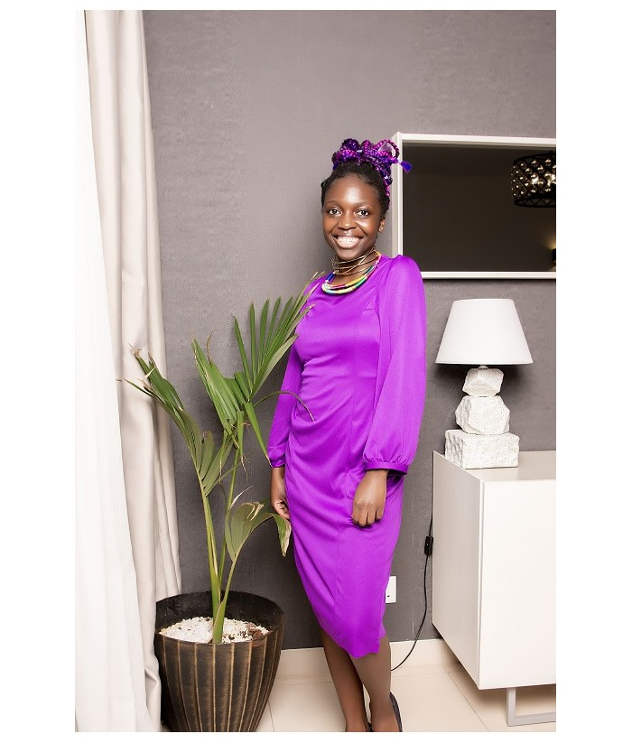 JABER Purple Dress