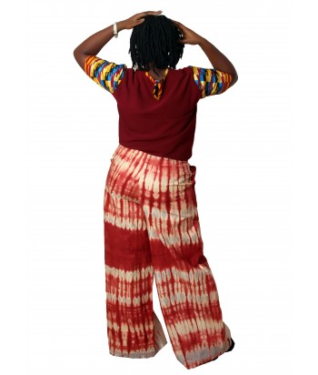 Bami African Two Piece Set of Palazzo and Kente Top - Back View