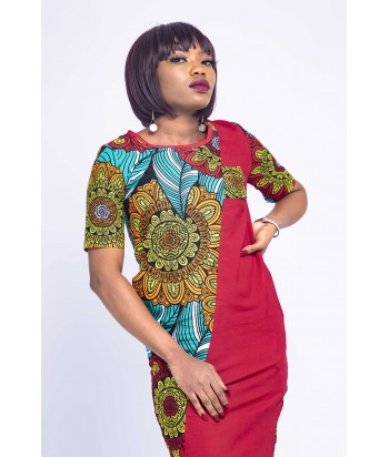 Tinu Africa Bold Print Floral Multicolour Short Dress