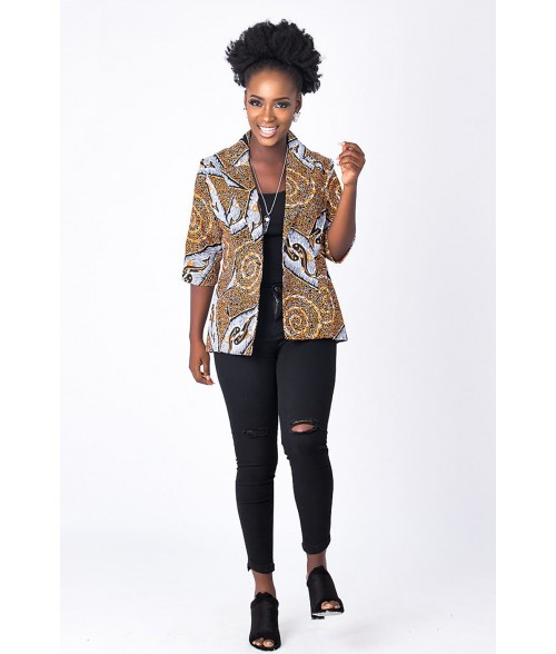 Fish Ankara Jacket