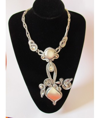 Long Silver Gatsby Necklace
