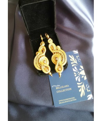 Gold Beaded Dangle Earrings