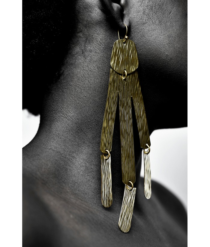 Fagilia Brass Earrings