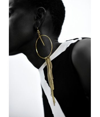 Bianca Long Brass Earrings
