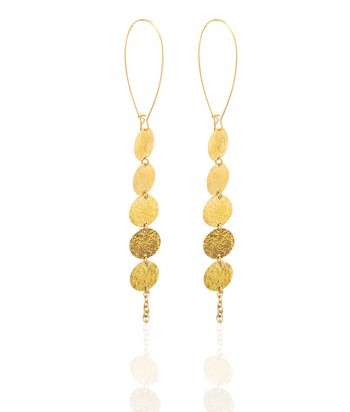 K-Zuri Long Brass Earrings