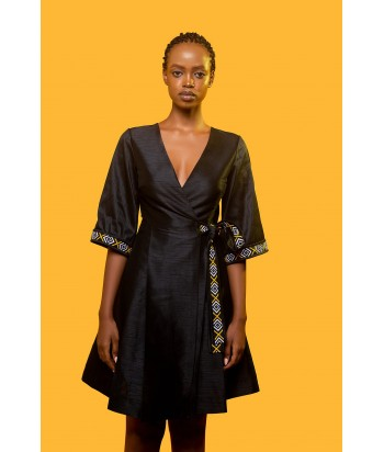 Long Sleeves Bahire Wrap Dress