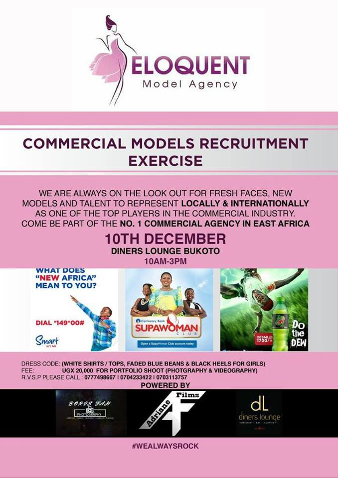 Eloquent Models Agency Is Recruiting in Uganda